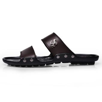 PINSV Men Fashion Sandals (Brown) - 3