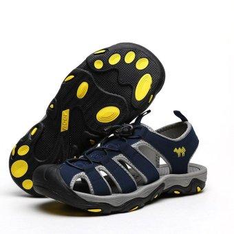 PINSV Men Outdoor Sporty Slipper Sandals Shoes (Navy Blue) - intl - 5
