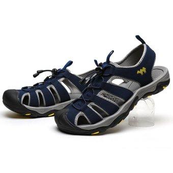 PINSV Men Outdoor Sporty Slipper Sandals Shoes (Navy Blue) - intl - 4