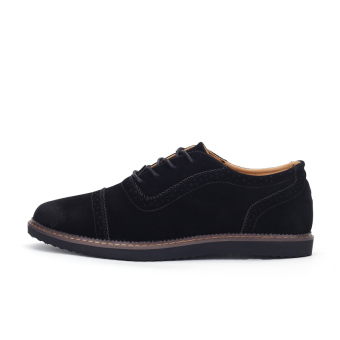 PINSV Men's Formal Shoes Casual Business Leather Shoes (Black) - 2