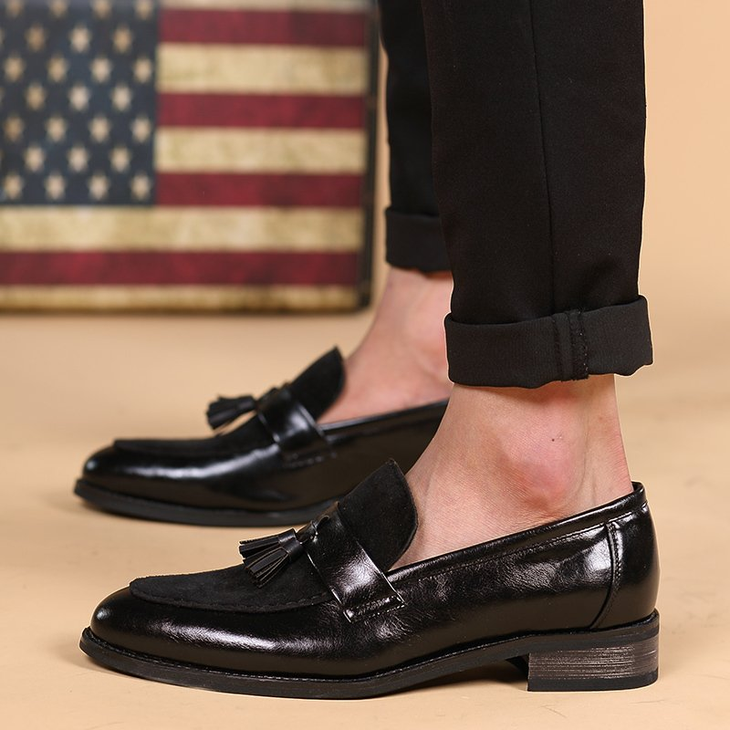 PINSV Mens Classic Formal Shoes Tassel Loafers Business Shoes (Black ) - Intl ..