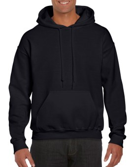 Plain Hoodie Jacket Fleece Black
