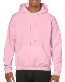 Plain Hoodie Jacket Fleece Light Pink w/o zipper