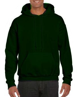Plain Hoodie Jacket Fleece Moss Green w/o zipper