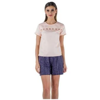 Plains & Prints Ichiro Short Sleeve Top (Peach)