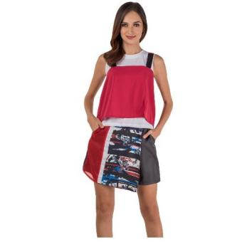 Plains & Prints Jeevi Sleeveless Top (Red/White)