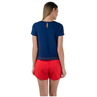 Plains & Prints Jonae Short Sleeves Top (Navy) - 3