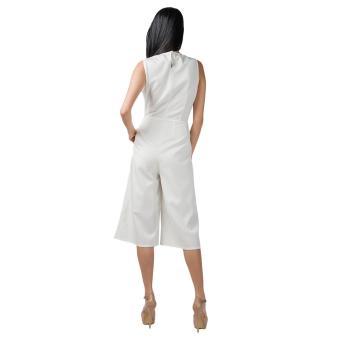 Plains & Prints Pearl Pantsuit (Offwhite) - 3
