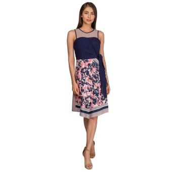 Plains and Prints Optimus Sleeveless Dress (Multi)