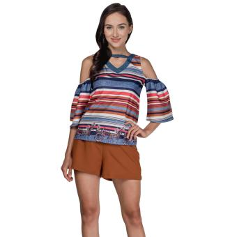 Plains and Prints Pillar Short Sleeves Top (Multi)