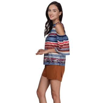 Plains and Prints Pillar Short Sleeves Top (Multi) - 2