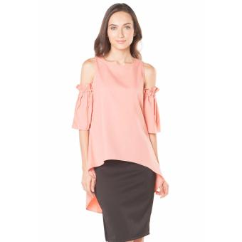Plains and Prints Shaquille Short Sleeves Tunic - Peach