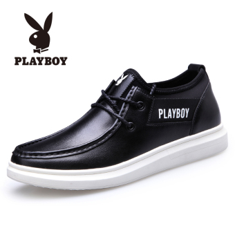 PLAYBOY breathable skateboard shoes men shoes (Amoy Duoduo dress F002168308 black)