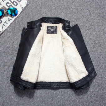 Plus velvet New style boy's baby Top Leather (Plus velvet thick)