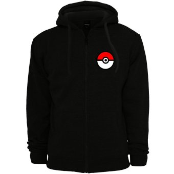 POKEMON GO Anime Pokemon Trainer Unisex Zip-Up Outdoor Hoodie Jacket (Black)