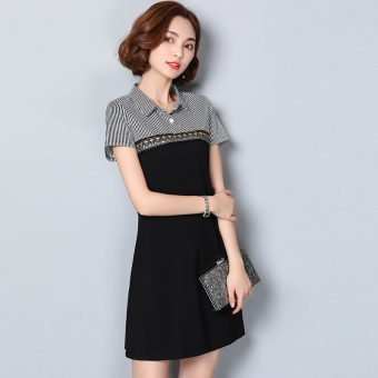 Polo new summer short-sleeved short dress