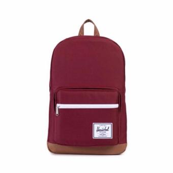 POP QUIZ BACKPACK 22L 100% AUTHENTIC MAROON/TAN LITTLE AMERICA