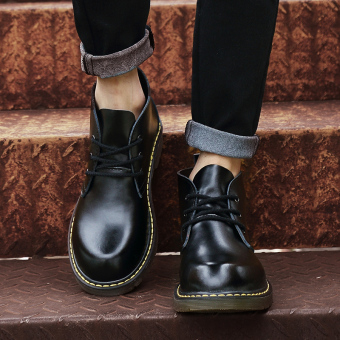 Popular brand Martin New style hight-top shoes Dr. Martens (Black)