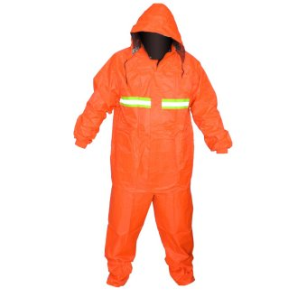 Popular Police Water Proof Rain Coat in Orange with Bag
