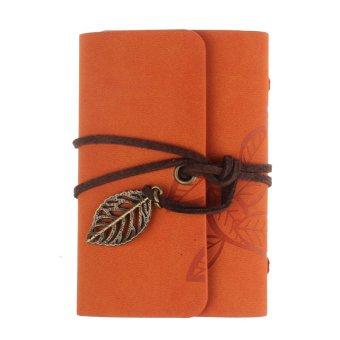 Practical Leather Business Credit ID Card Holder Orange