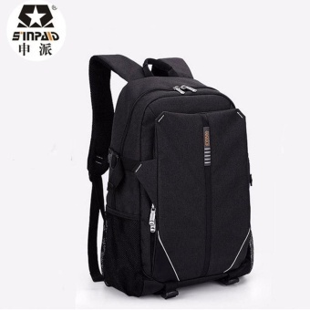 Premium Quality Male Backpack--SINPAID Waterproof 15.6 Inch Laptop Backpack Multifunctional Large Capacity Business Bag Travel Bag for Men (Black) - intl