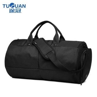 Premium Quality Male Bag--Travel Bag for Men Bucket Sytle Men's Canvas Travel Duffle Travel Tote Men Business Travel Shoulder Bag (Black) - intl