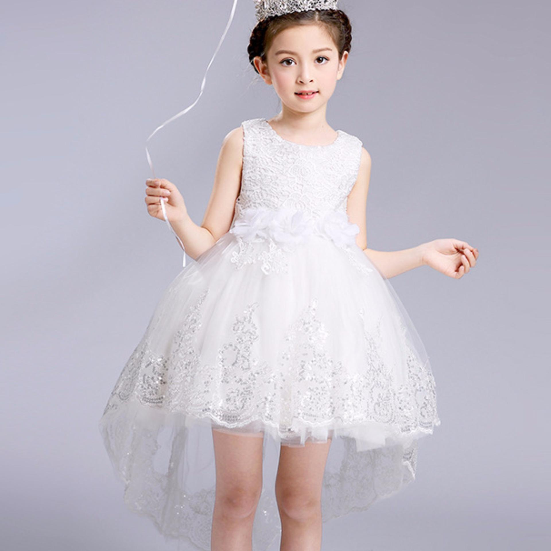 Philippines princess flower girl dress for wedding party princess flower girl dress for wedding party bridesmaid kids bowtrailing lace tulle tutu dress izmirmasajfo