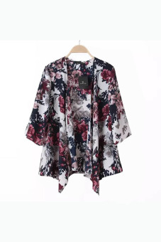 Printed Jacket Chiffon Kimono Cardigan Multicolour | Lazada PH