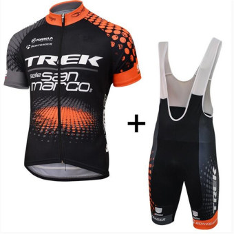 Pro Breathable Quick-Dry Black Cycling Clothing Bike Wear RacingClothes Bicycle Jacket Polyester Shirt Cycling Jersey Lycra BIBShort Pants Gel Pad - intl