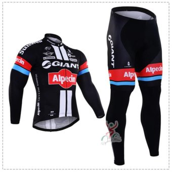 Pro Long Sleeve Cycling Jersey Sets Breathable 3D Padded SportswearMountain Bicycle Bike Berbasikal Cycling Clothing Suit - intl