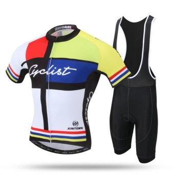Pro Road Mountain MTB Bike Clothing Set(Yellow) - intl
