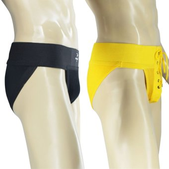 PROCARE #502-536 Supporter Brief 3-inch Waistband 2in1 (Black/Yellow) - picture 2