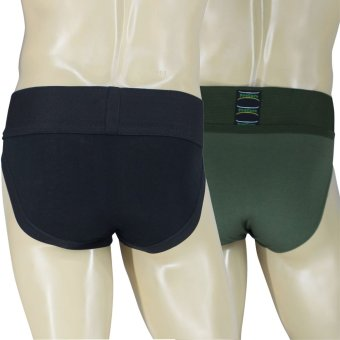 PROCARE #502-538 Supporter Brief 3-inch Waistband 2in1 (Black/Olive Green) - 3