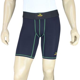 PROCARE COMBAT #8417G  Compression Men Shorts with back PhoneZip Pocket (Blk/Green) - 2