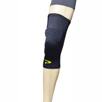 PROCARE COMBAT #CSX43 Compression Hex Padded Knee Sleeves with TopAnti-Slip, 1pc. (Black)