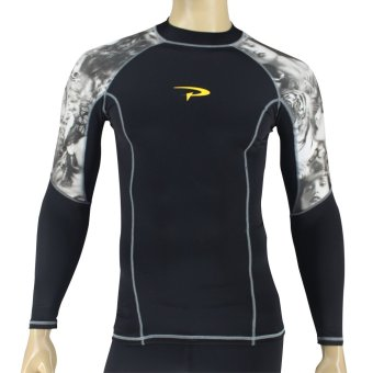 PROCARE MARINE #8318 Men Rash Guard High Neck Long Sleeves, UVProtection UPF30+, for Swimming Diving Snorkeling