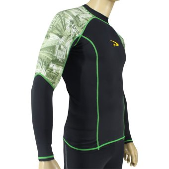 PROCARE MARINE #8320 Men Rash Guard High Neck Long Sleeves, UVProtection UPF30+, for Swimming Diving Snorkeling