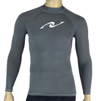 PROCARE MARINE #8356 Dri-Quik Men Rash Guard High Neck UPF30+ UltraViolet Skin Protection for Swimming Diving Snorkeling (Gray)