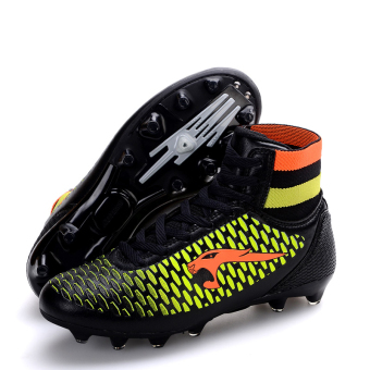 Professional Soccer Shoes High Spike Football Shoes Athletic Training Shoes Black - 5