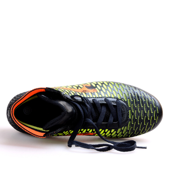 Professional Soccer Shoes High Spike Football Shoes Athletic Training Shoes Black - 2