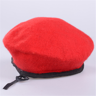 Property residential security uniform cap beret cap (Red color (containing cap badge))