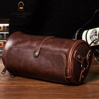PU Leather Crossbody Bags Shoulder Bag for Men Fashion Travel Bags Man Casual Travel Messenger Bag ( Coffee ) 15x28x15cm - intl Price Philippines