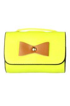 PU Leather Envelope Crossbody Handbag (Yellow)