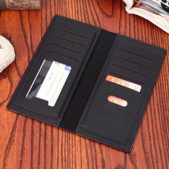 PU Leather Men Long Ultrathin Wallet Card Phone Holder PureClutch(Black) - intl - 3