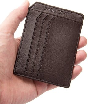 PU Leather Men Wallets Credit Card Holder Male Purses Men Bags(black) - intl - 4