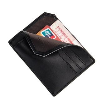 PU Leather Men Wallets Credit Card Holder Male Purses Men Bags(black) - intl - 3