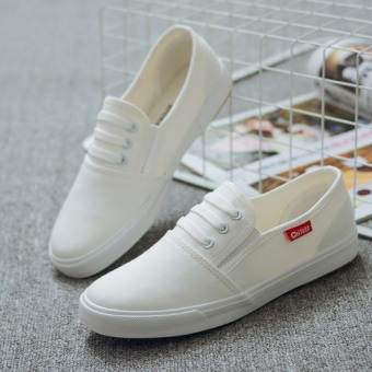 Pudding Female canvas flat leisure white shoes - Intl - 3
