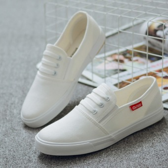 Pudding Female canvas flat leisure white shoes - Intl - 2