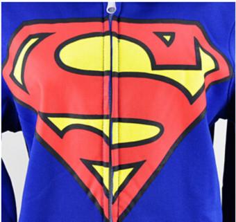 Pyjamas Adult Pajamas Onesie Batman Superman Zip One PieceSleepsuit Sleepwear - 2
