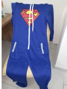 Pyjamas Adult Pajamas Onesie Batman Superman Zip One PieceSleepsuit Sleepwear - 5